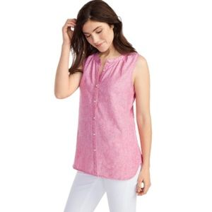 Tommy Bahama Sunset Chambray Sleeveless Shirt NWT